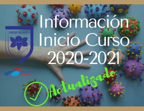 INFORMACIÓN INICIO DE CURSO 2020-2021